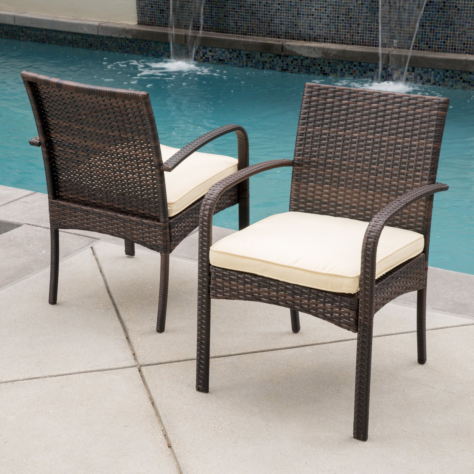Best ideas about Patio Dining Chairs . Save or Pin Patio Chairs & Stools Walmart Now.