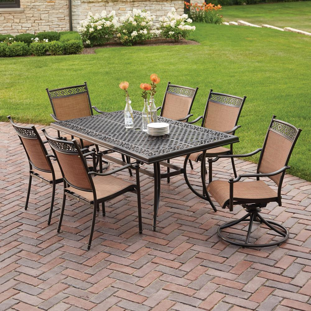 Best ideas about Patio Dining Chairs . Save or Pin Hampton Bay Niles Park 7 Piece Sling Patio Dining Set S7 Now.