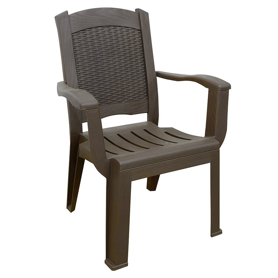 Best ideas about Patio Dining Chairs . Save or Pin Adams Mfg Corp Brentwood Stackable Wicker Back Patio Now.