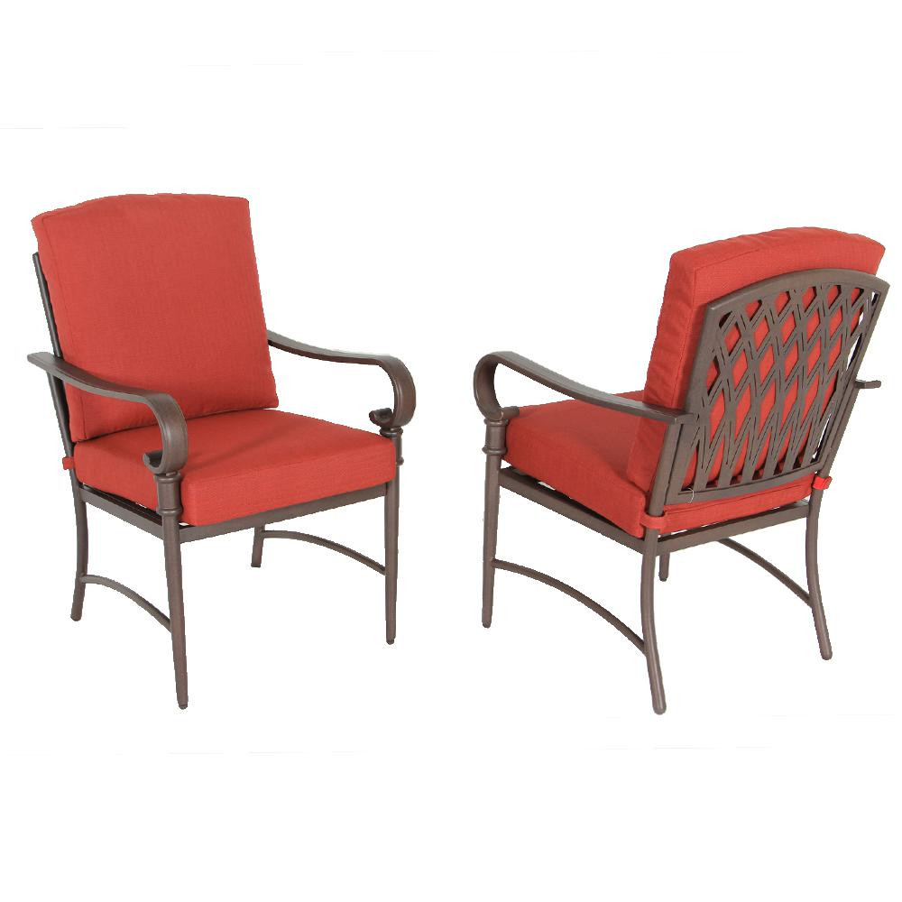 Best ideas about Patio Dining Chairs . Save or Pin Hampton Bay Statesville Padded Sling Swivel Patio Dining Now.
