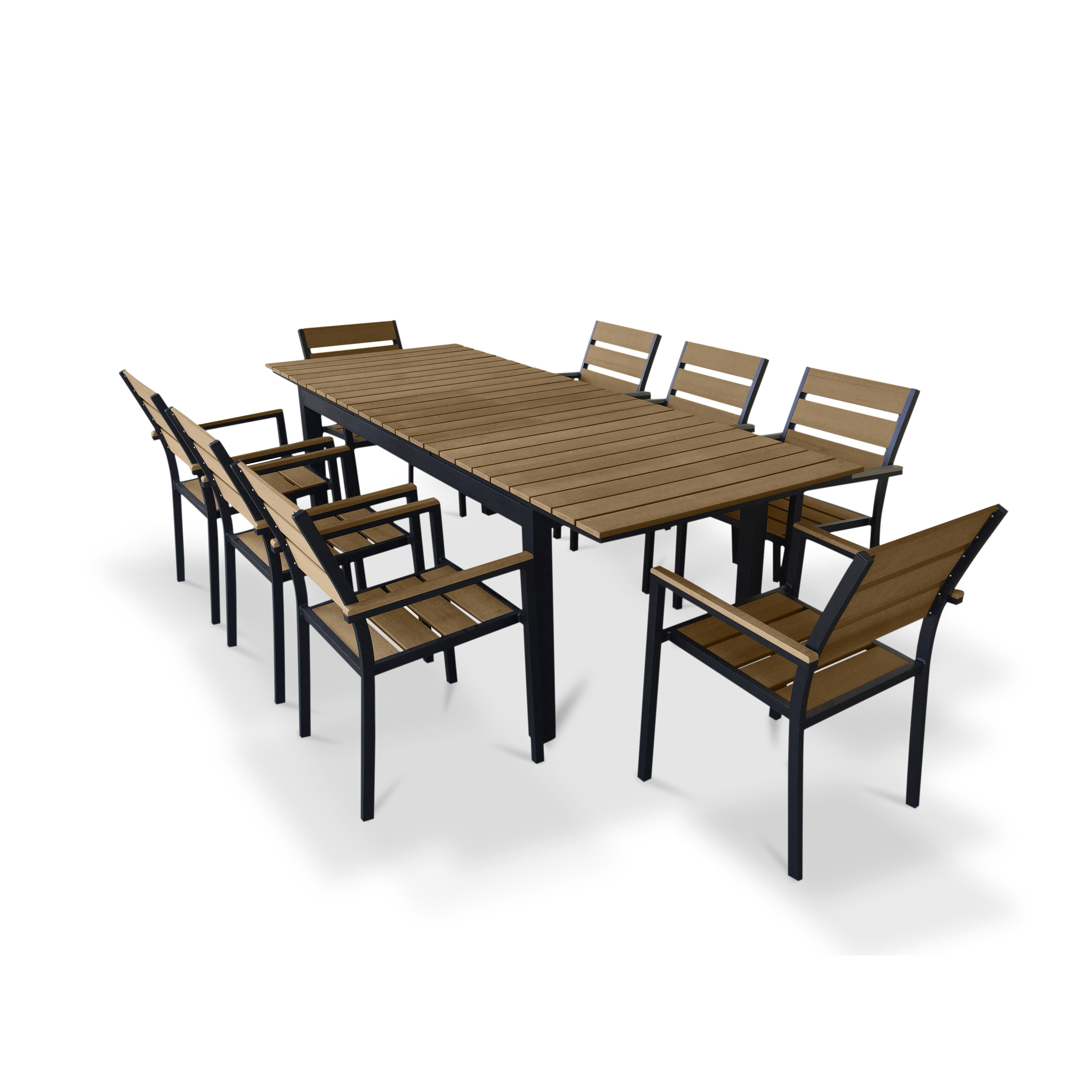 Best ideas about Patio Dining Set . Save or Pin Urban Furnishings 9 Piece Extendable Outdoor Dining Set Now.