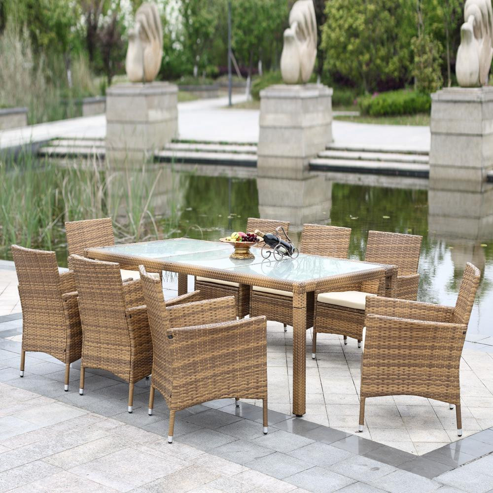 Best ideas about Patio Dining Set . Save or Pin 9pc Rattan Outdoor Dining Set Chairs Table Pool Garden Now.