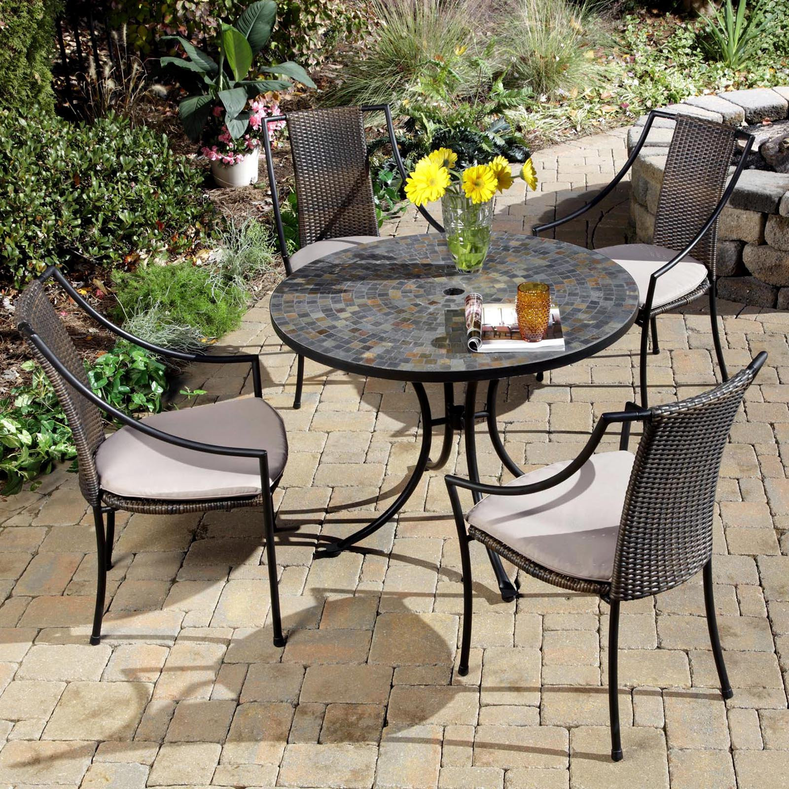 Best ideas about Patio Dining Set . Save or Pin Home Styles Stone Harbor Mosaic Outdoor Dining Set Patio Now.
