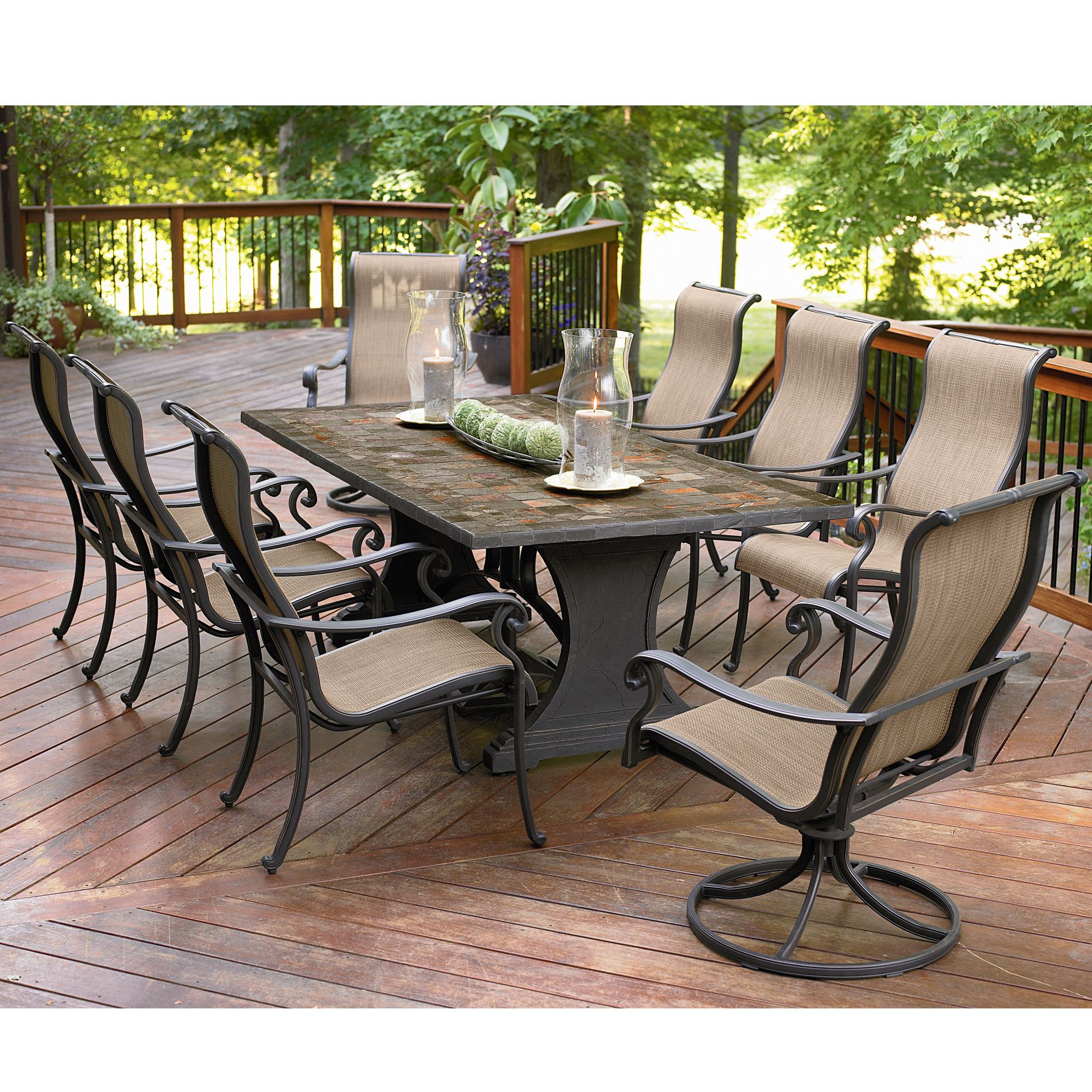 Best ideas about Patio Dining Set . Save or Pin Agio International Panorama 9 Pc Patio Dining Set Now.