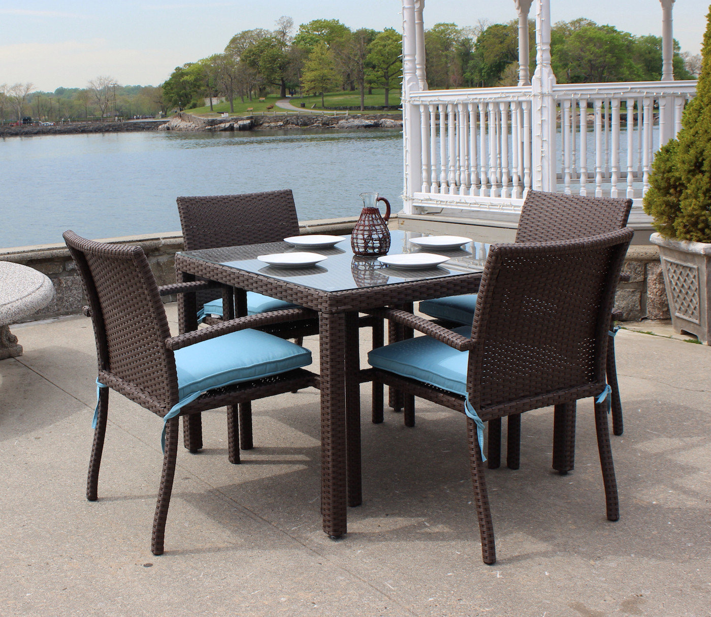 Best ideas about Patio Dining Set . Save or Pin Wicker Patio Dining Set of 5 Brown Now.