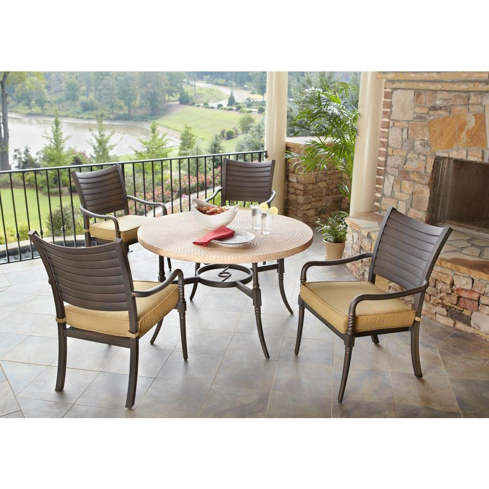 Best ideas about Patio Dining Sets On Sale . Save or Pin Hampton Bay Madison 5 Pc Patio Dining Set Sale $106 75 BuyVia Now.