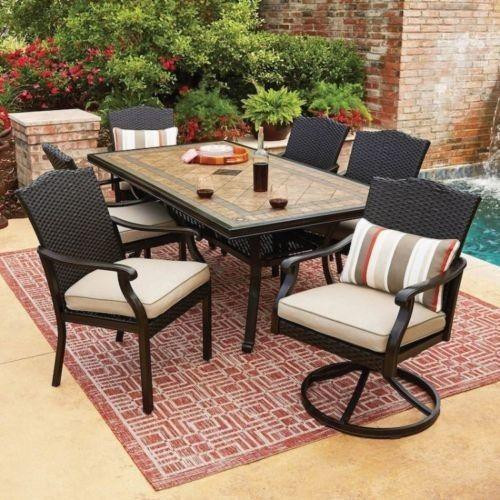 Best ideas about Patio Dining Table Clearance . Save or Pin OFF on Wicker Patio Furniture Set 7 Piece All Weather Now.
