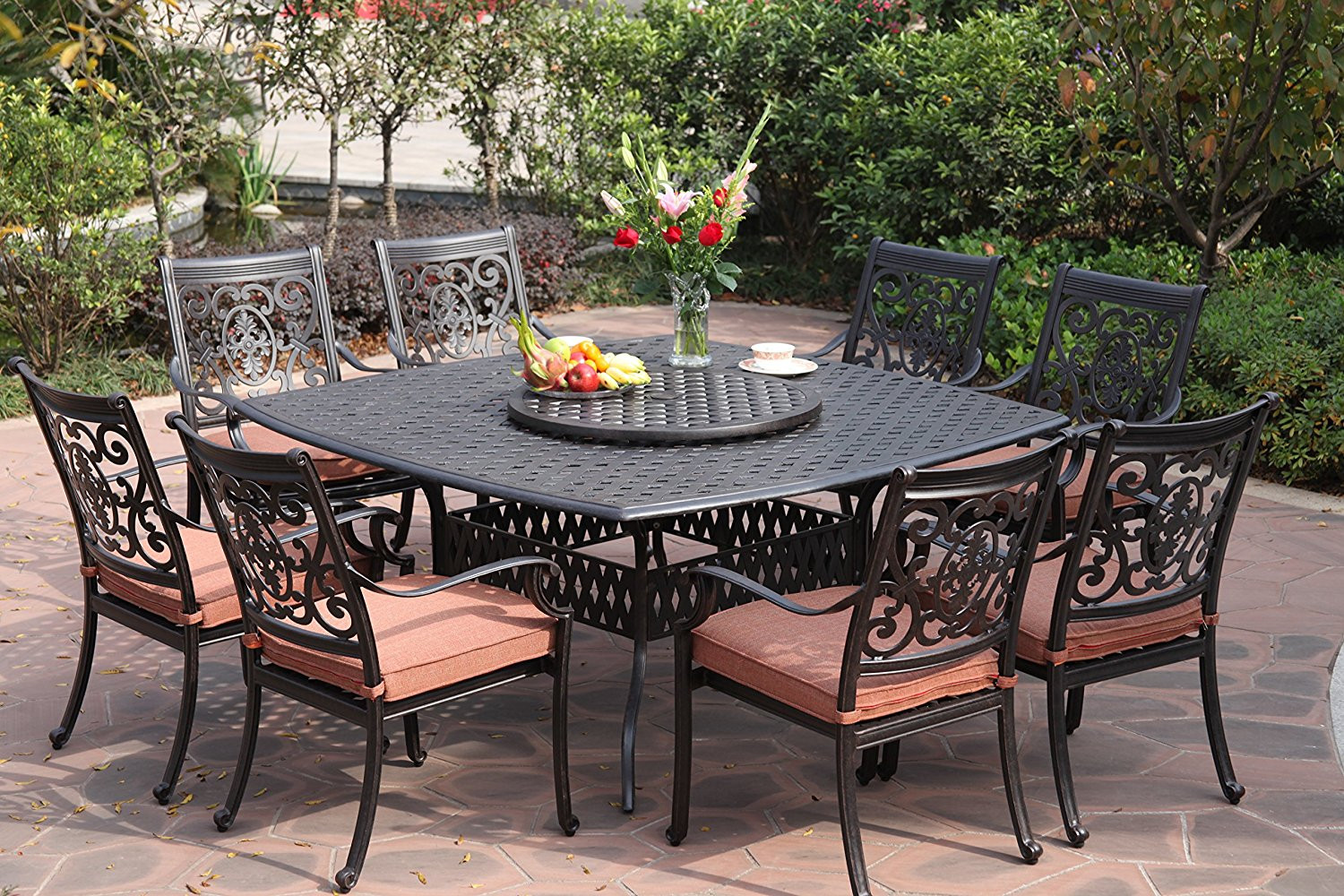 Best ideas about Patio Dining Table Clearance . Save or Pin Darlee St Cruz Cast Aluminum Piece Dining Set With Patio Now.