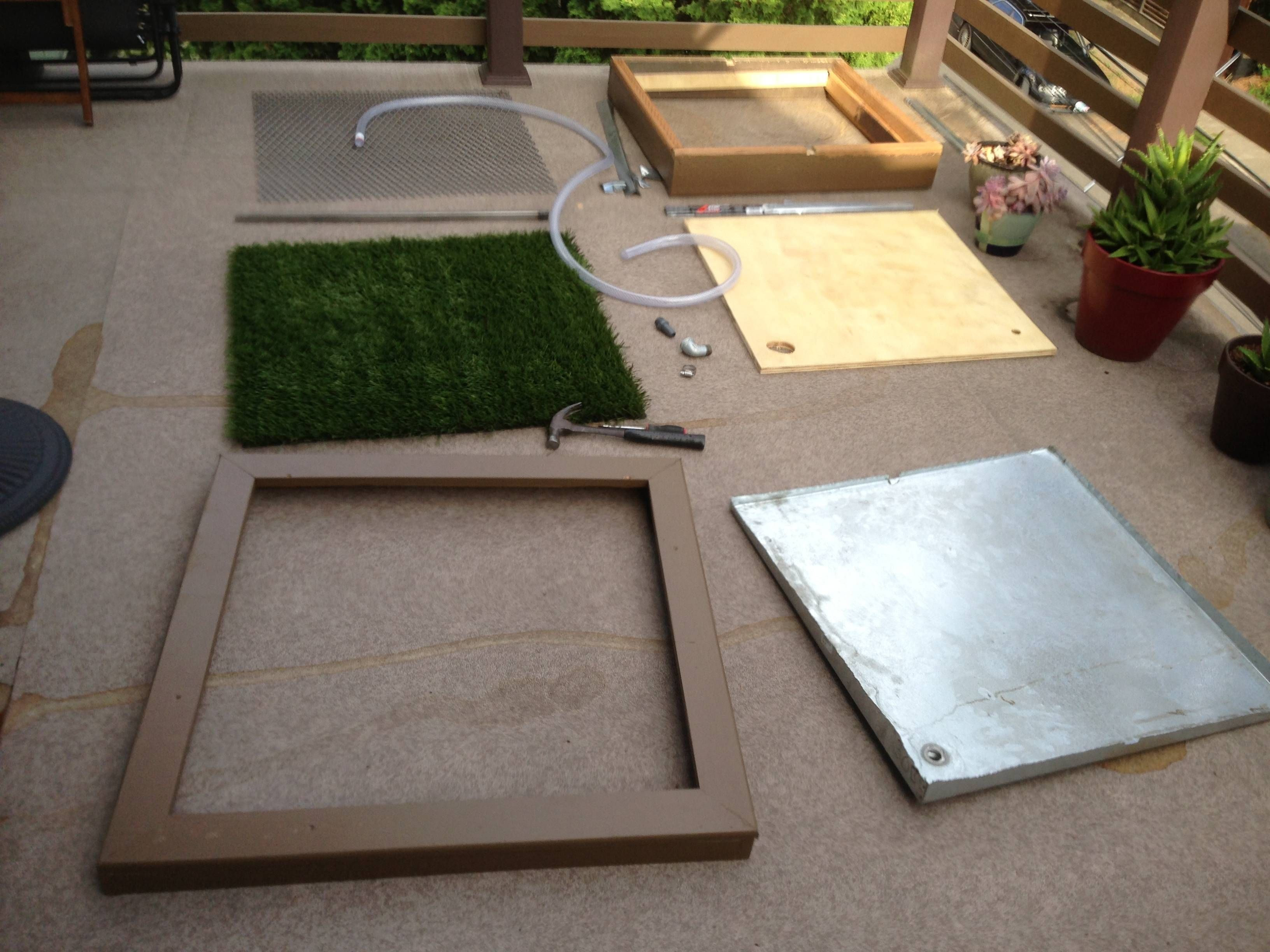 Best ideas about Patio Dog Potty DIY . Save or Pin DIY porch potty for crowley Now.