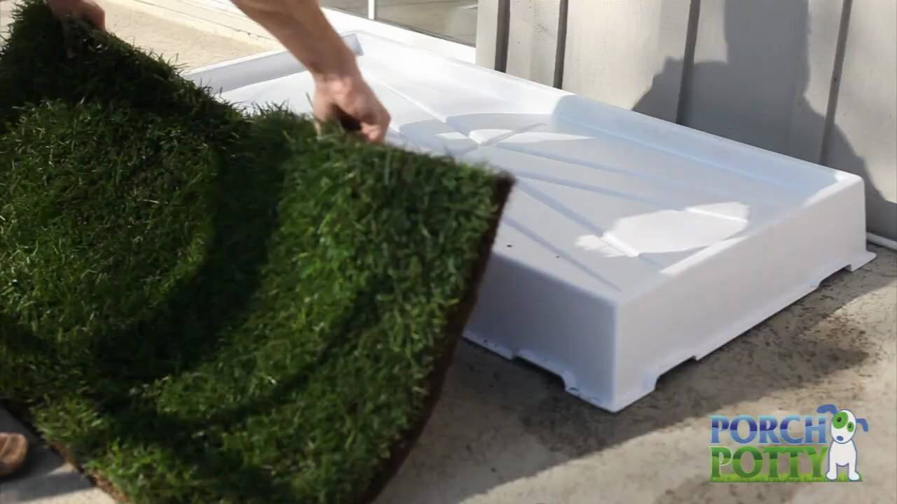 Best ideas about Patio Dog Potty DIY . Save or Pin Using Grass with the Porch Potty Dog Potty Now.