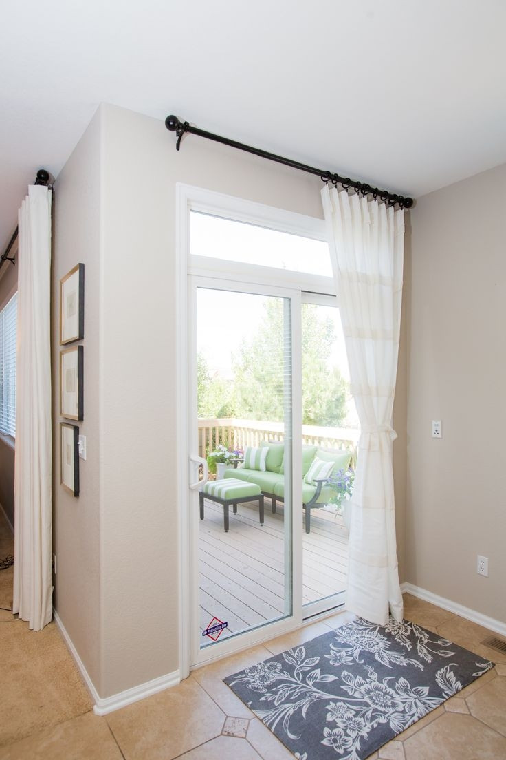 Best ideas about Patio Door Curtain Ideas . Save or Pin 25 Best Ideas Sliding Glass Door Curtains Now.