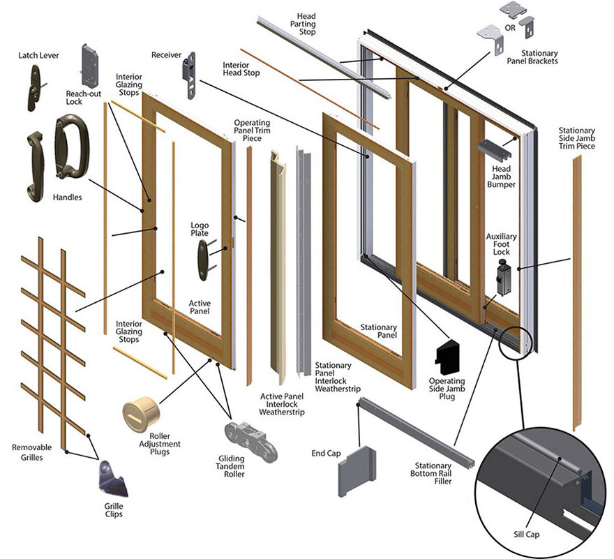 Best ideas about Patio Door Parts . Save or Pin Andersen Frenchwood Gliding Patio Door Replacement Parts Now.