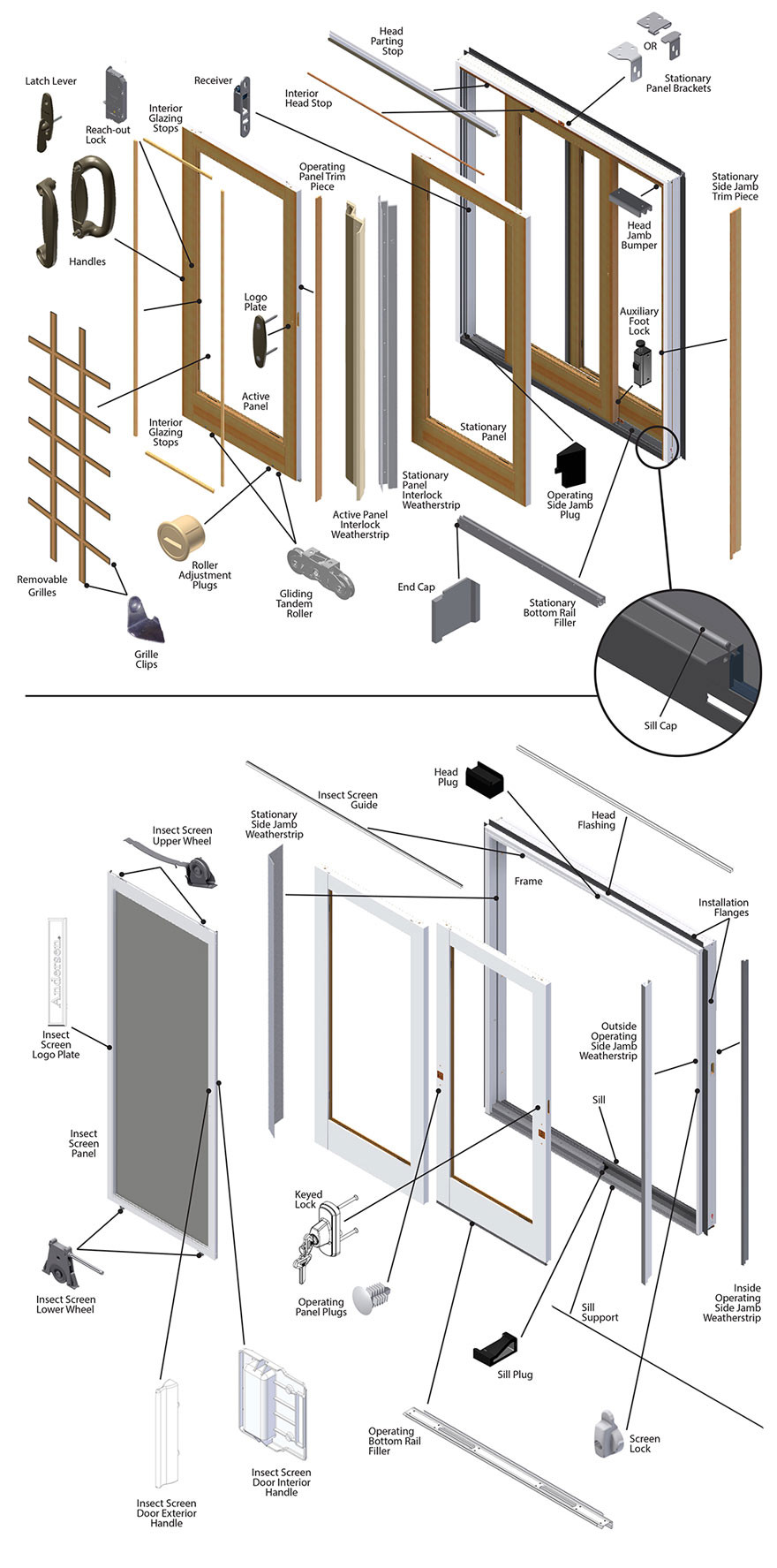 Best ideas about Patio Door Parts . Save or Pin Frenchwood Gliding Patio Door Parts Diagram Now.