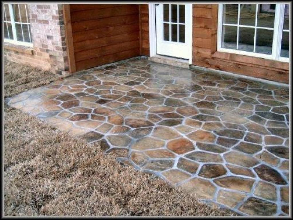 Best ideas about Patio Floor Ideas . Save or Pin Outside patio flooring diy concrete patio ideas concrete Now.