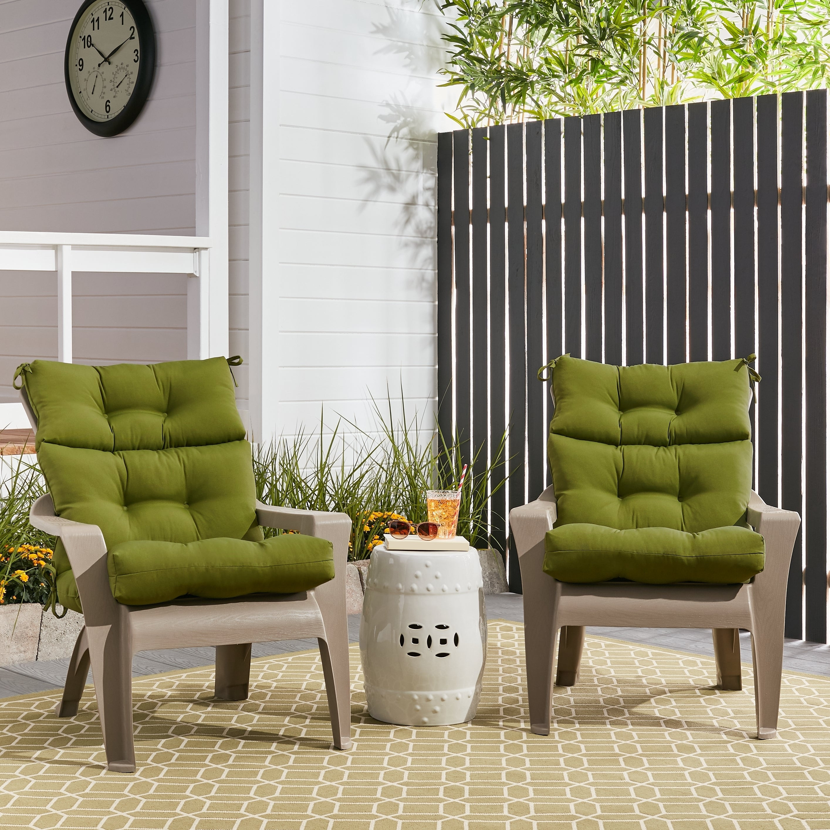 Best ideas about Patio Furniture Cushion Covers . Save or Pin Outdoor High Back Chair Cushions Set of 2 Overstuffed Now.