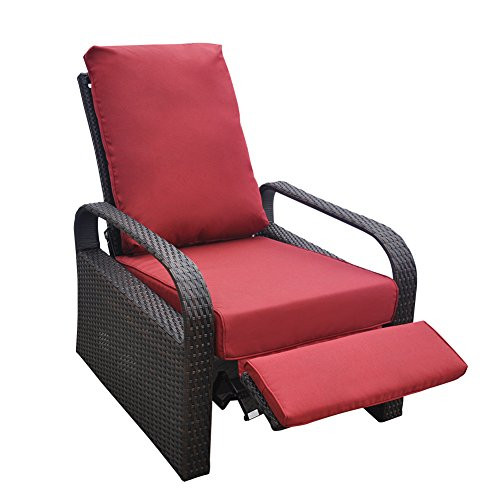 Best ideas about Patio Furniture Cushion Covers . Save or Pin ONLY COVER Outdoor Recliner Chair Replacement Cushion Now.