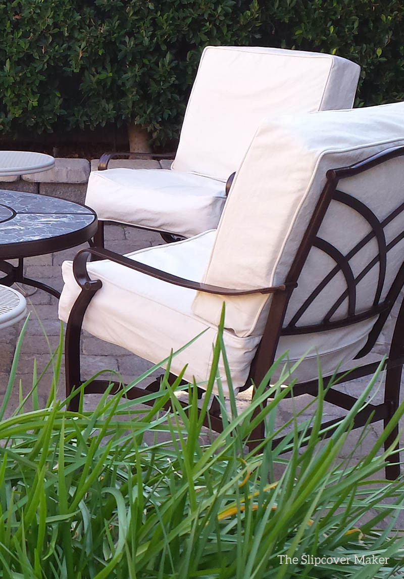 Best ideas about Patio Furniture Cushion Covers . Save or Pin Natural Duck Slipcovers for the Patio Now.