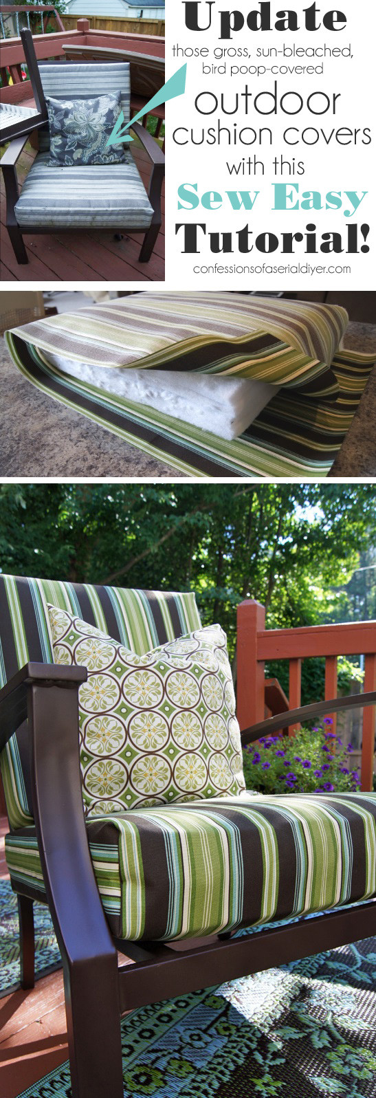 Best ideas about Patio Furniture Cushion Covers . Save or Pin Sew Easy Outdoor Cushion Covers Ol but Goo Now.