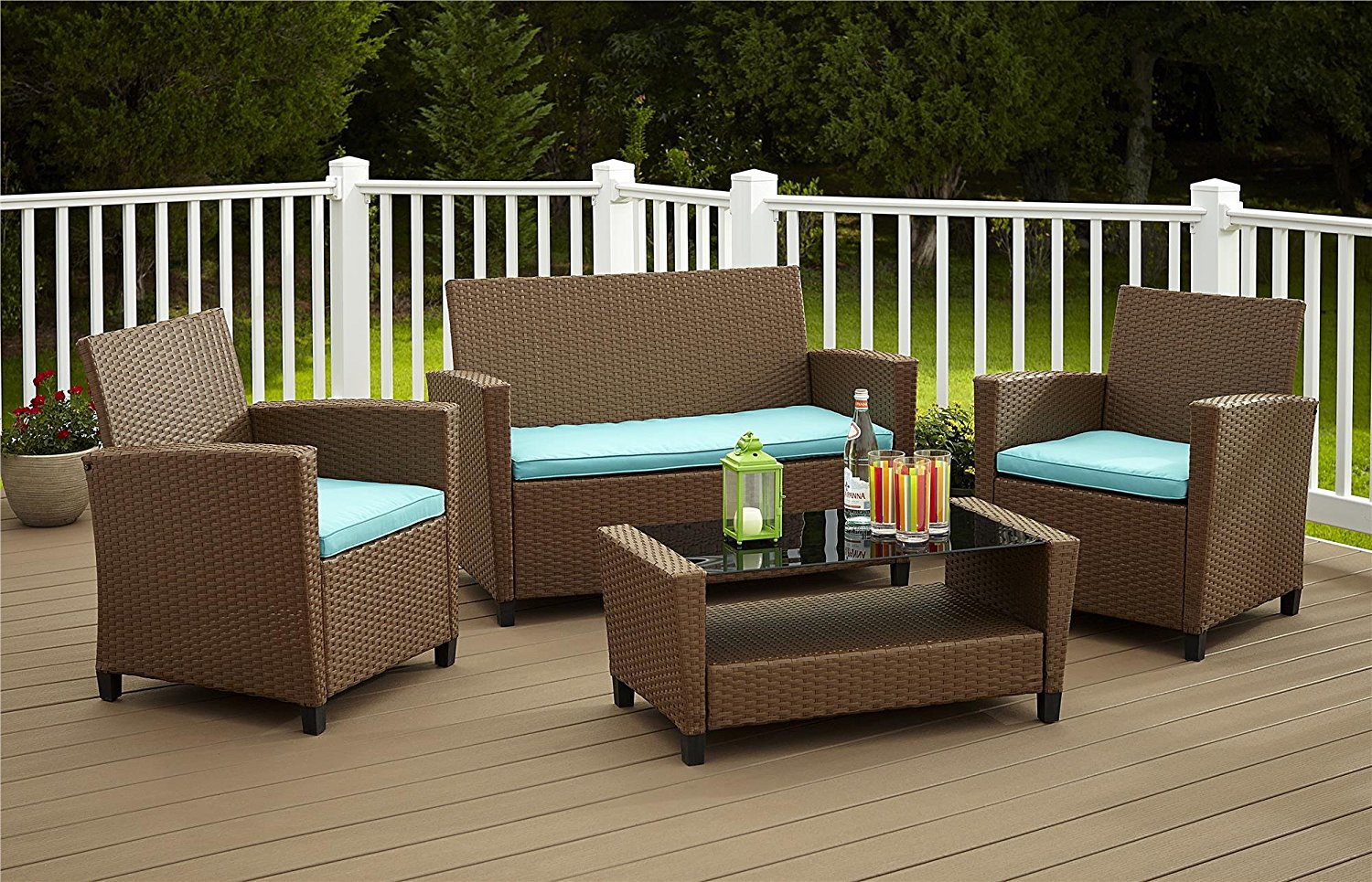 Best ideas about Patio Furniture Deals . Save or Pin Cosco Products Piece Malmo Resin Wicker Patio Set Outdoor Now.