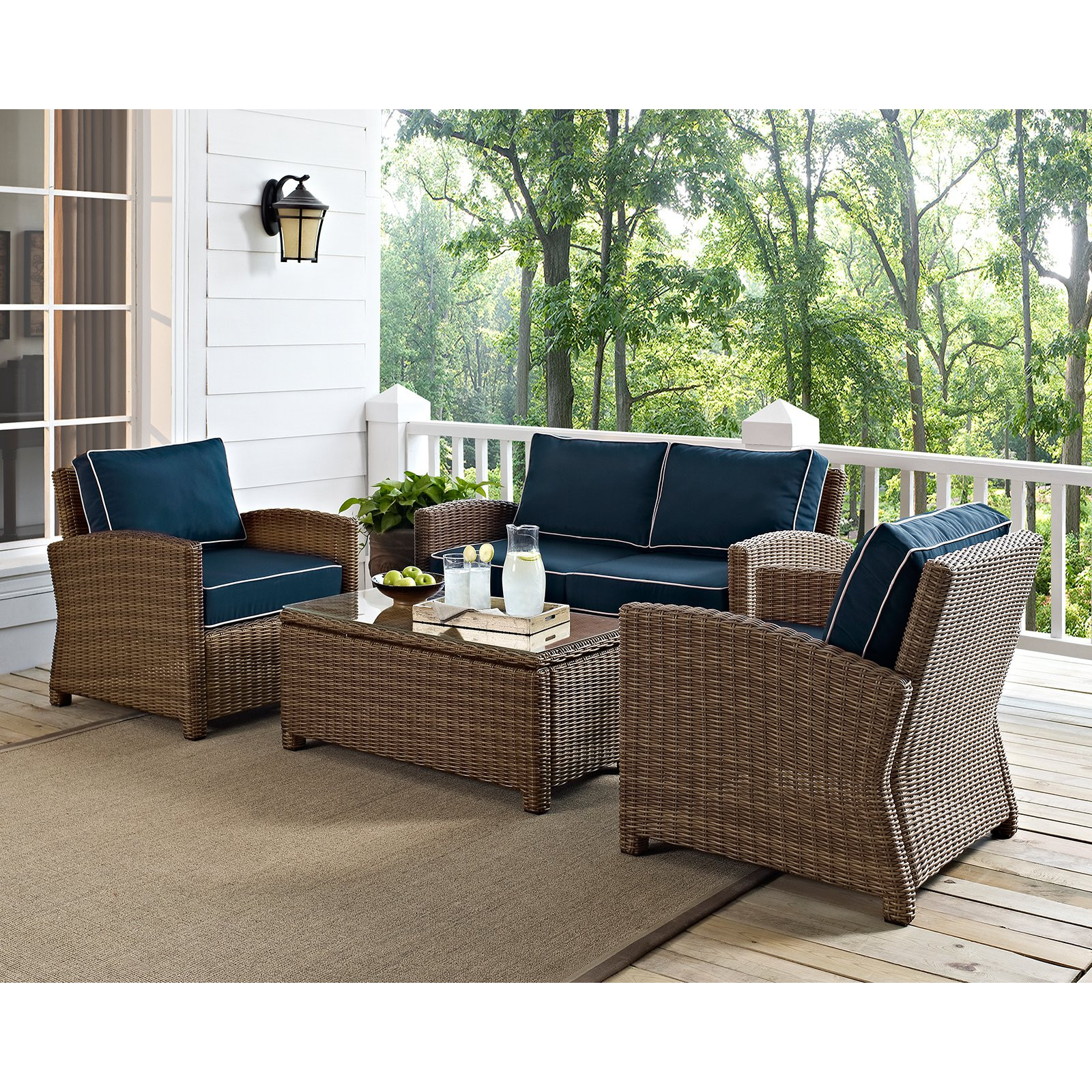 Best ideas about Patio Furniture Sets . Save or Pin Crosley Bradenton 4 Piece Outdoor Wicker Conversation Set Now.