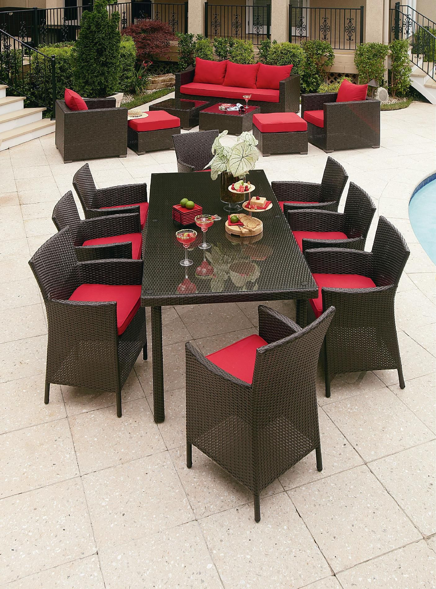 Best ideas about Patio Furniture Sets . Save or Pin Grand Resort Osborn 9 Piece Rectangle Dining Set Featuring Now.