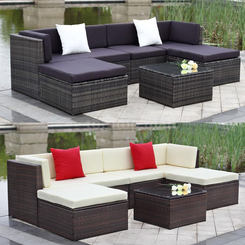 Best ideas about Patio Furniture Sets . Save or Pin Outdoor Cushioned Wicker Patio Set Garden Lawn Sofa Now.