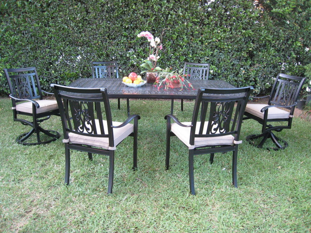 Best ideas about Patio Furniture Sets . Save or Pin Cast Aluminum Outdoor Patio Furniture Dining Set A with 2 Now.