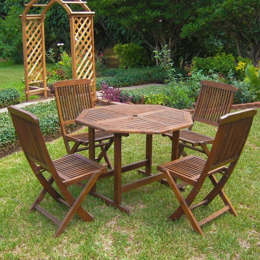 Best ideas about Patio Furniture Sets . Save or Pin International Caravan Acacia 5 piece Stowaway Patio Now.