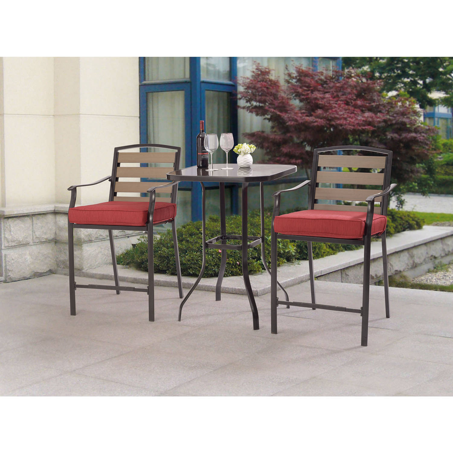 Best ideas about Patio Furniture Walmart . Save or Pin Patio Bar Sets Walmart Now.
