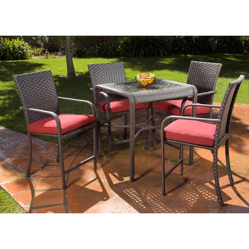 Best ideas about Patio Furniture Walmart . Save or Pin Rushreed 5 Piece Gathering Height Patio Dining Set Seats Now.
