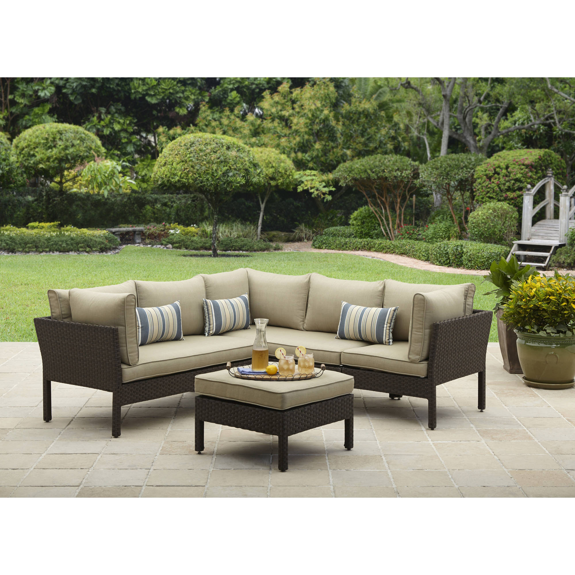 Best ideas about Patio Furniture Walmart . Save or Pin Outdoor Sectional Sofas Walmart Now.