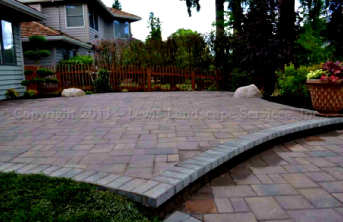 Best ideas about Patio Pavers Lowes . Save or Pin Cool Patio Paver Design For Front Yard Landcaping Now.