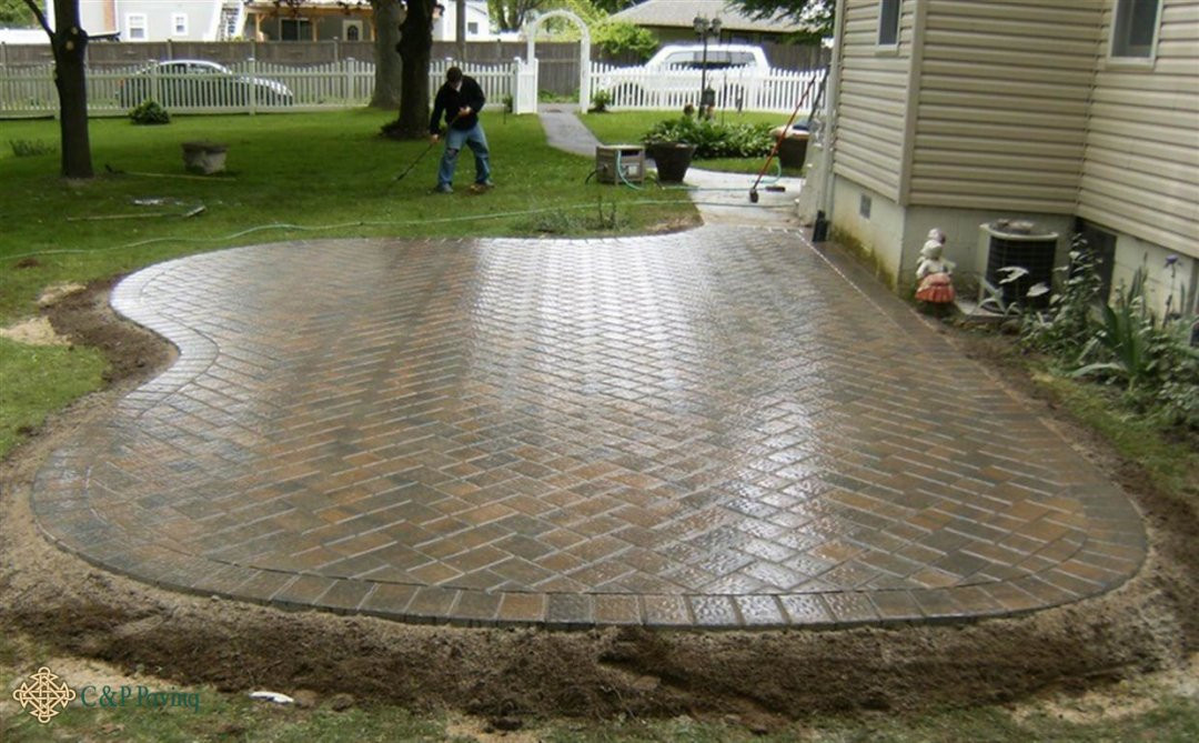 Best ideas about Patio Pavers Lowes . Save or Pin 24x24 Concrete Pavers Menards Lowes Home Depot Now.