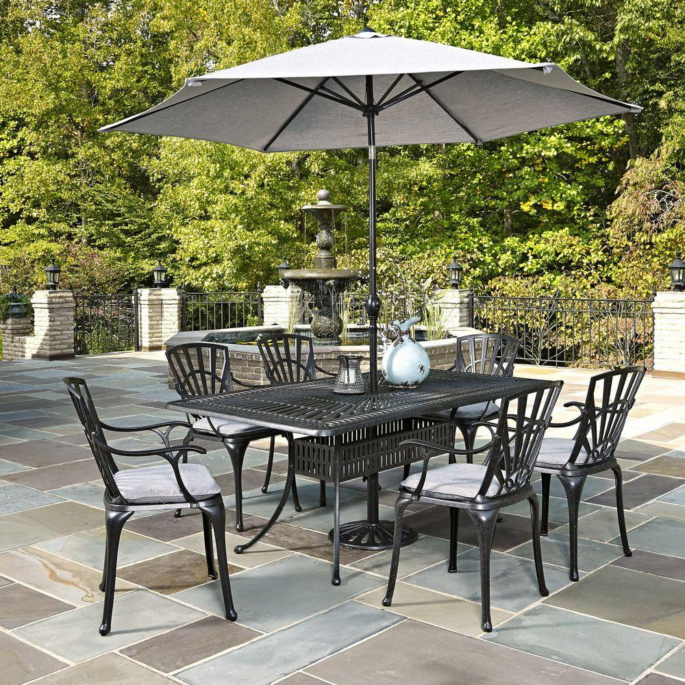 Best ideas about Patio Set With Umbrella . Save or Pin Home Styles Largo 7 Piece Outdoor Patio Dining Set with Now.