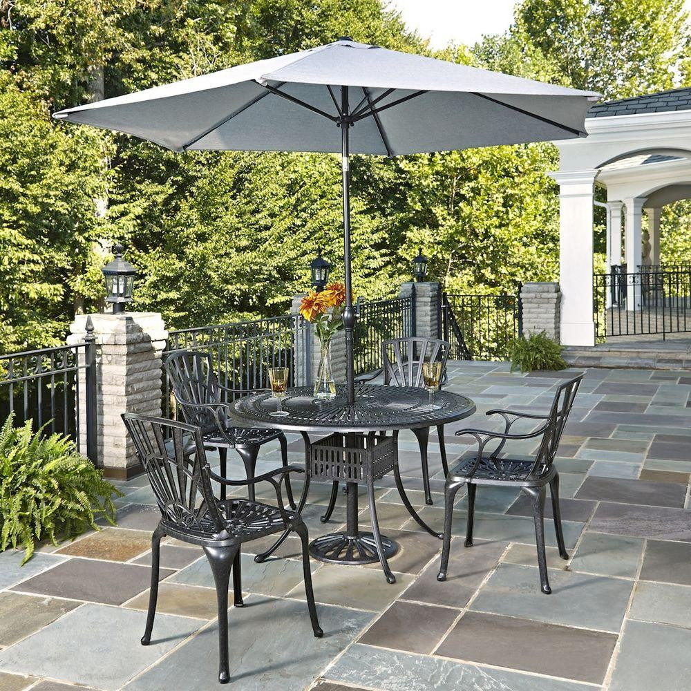 Best ideas about Patio Set With Umbrella . Save or Pin Home Styles Largo 48 in W 5 Piece Patio Dining Set with Now.