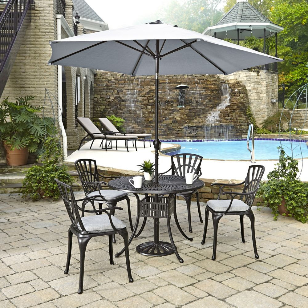 Best ideas about Patio Set With Umbrella . Save or Pin 31 Wonderful Patio Dining Sets With Umbrella pixelmari Now.