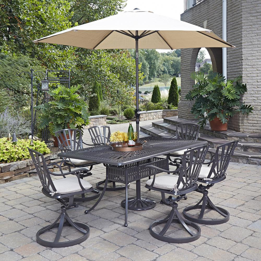 Best ideas about Patio Set With Umbrella . Save or Pin Home Styles Stone Harbor 40 in 5 Piece Slate Tile Top Now.