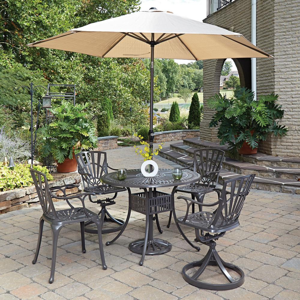 Best ideas about Patio Set With Umbrella . Save or Pin Home Styles Largo 5 Piece Patio Dining Set with Umbrella Now.