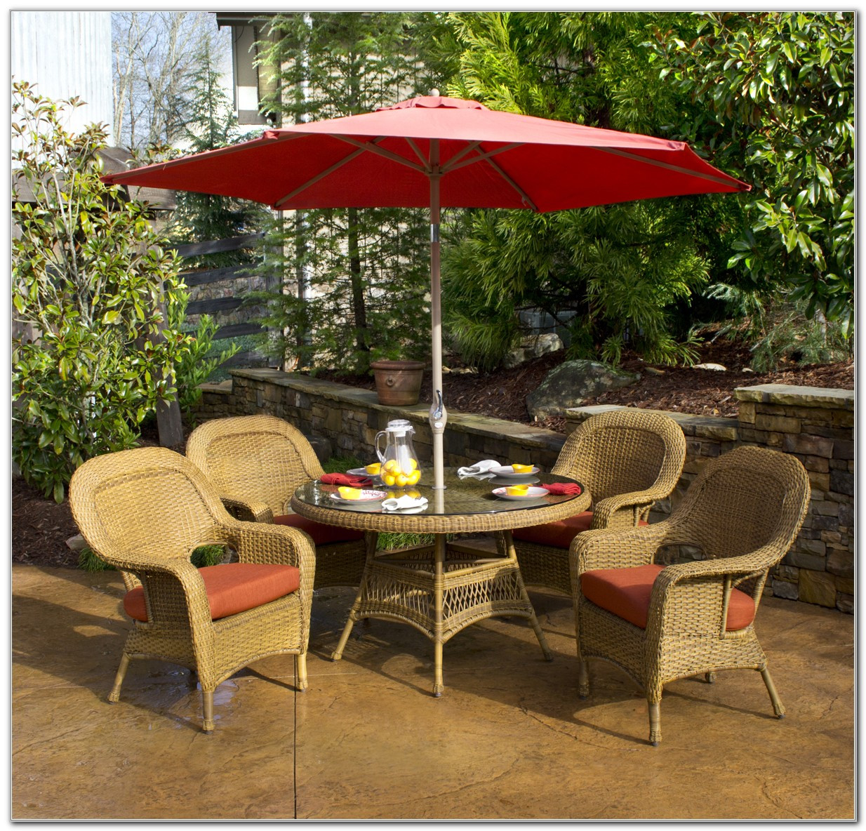 Best ideas about Patio Set With Umbrella . Save or Pin Patio Dining Sets With Umbrella Furniture Folding Set Now.