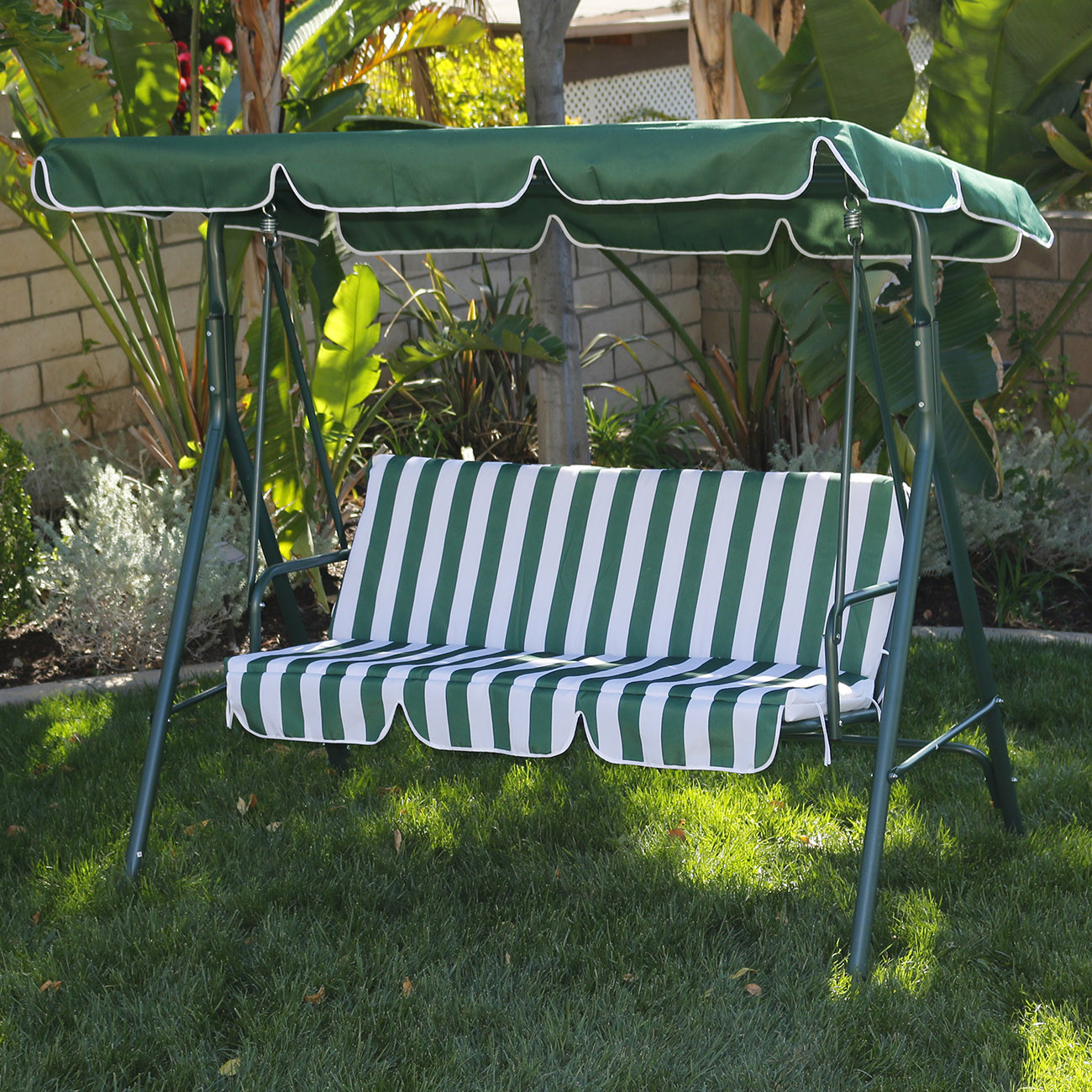 Best ideas about Patio Swing With Canopy . Save or Pin 3 Person Patio Swing Canopy Tilt Awning Hammock Steel Now.