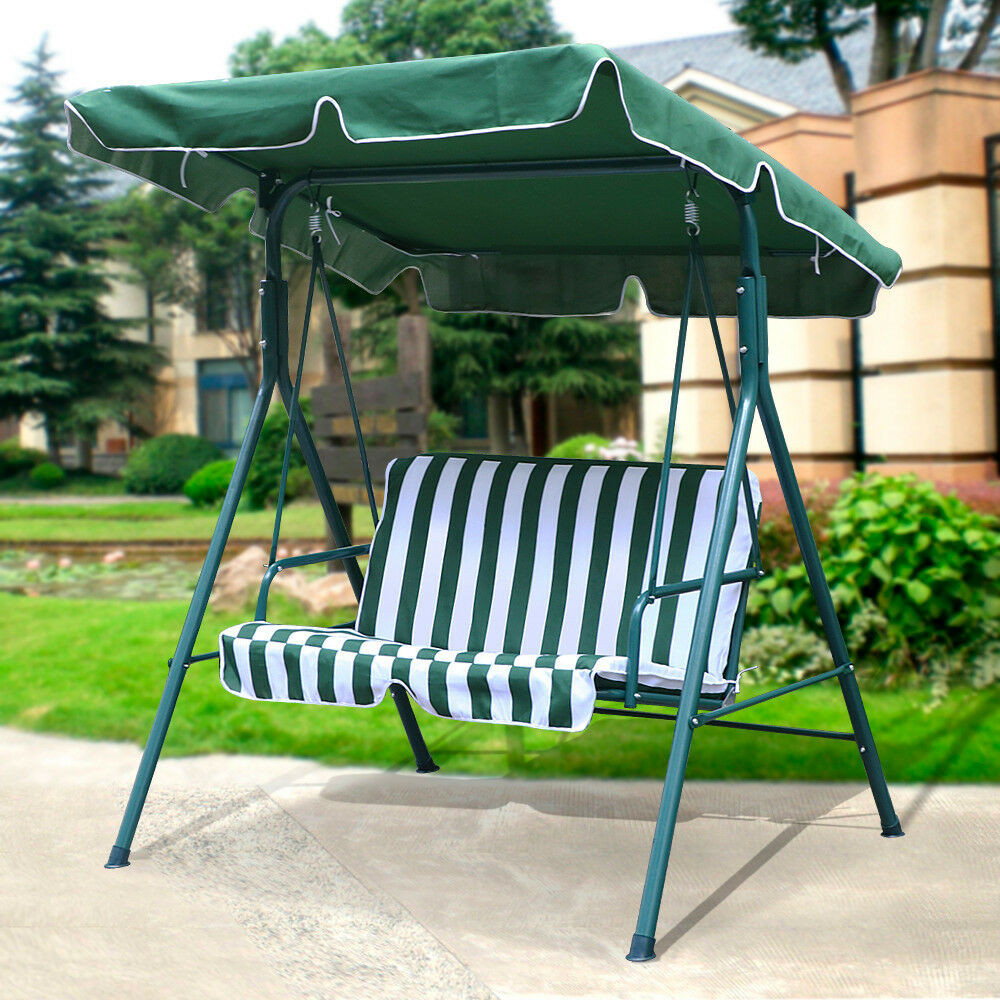 Best ideas about Patio Swing With Canopy . Save or Pin New 2 Person Canopy Swing Glider Hammock Patio Furniture Now.