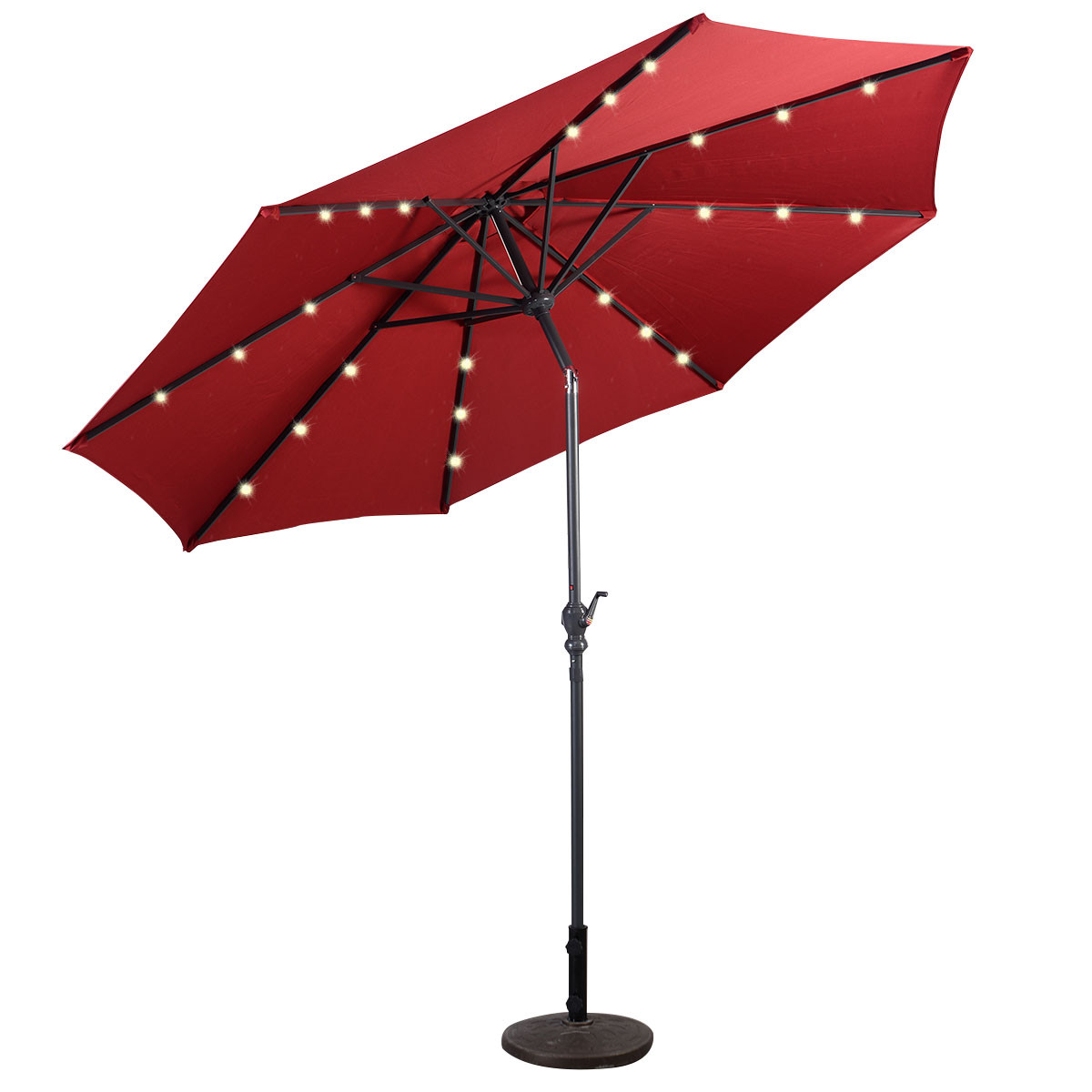 Best ideas about Patio Umbrella Walmart . Save or Pin 9 Deluxe Solar Powered LED Lighted Patio Umbrella Tan Now.