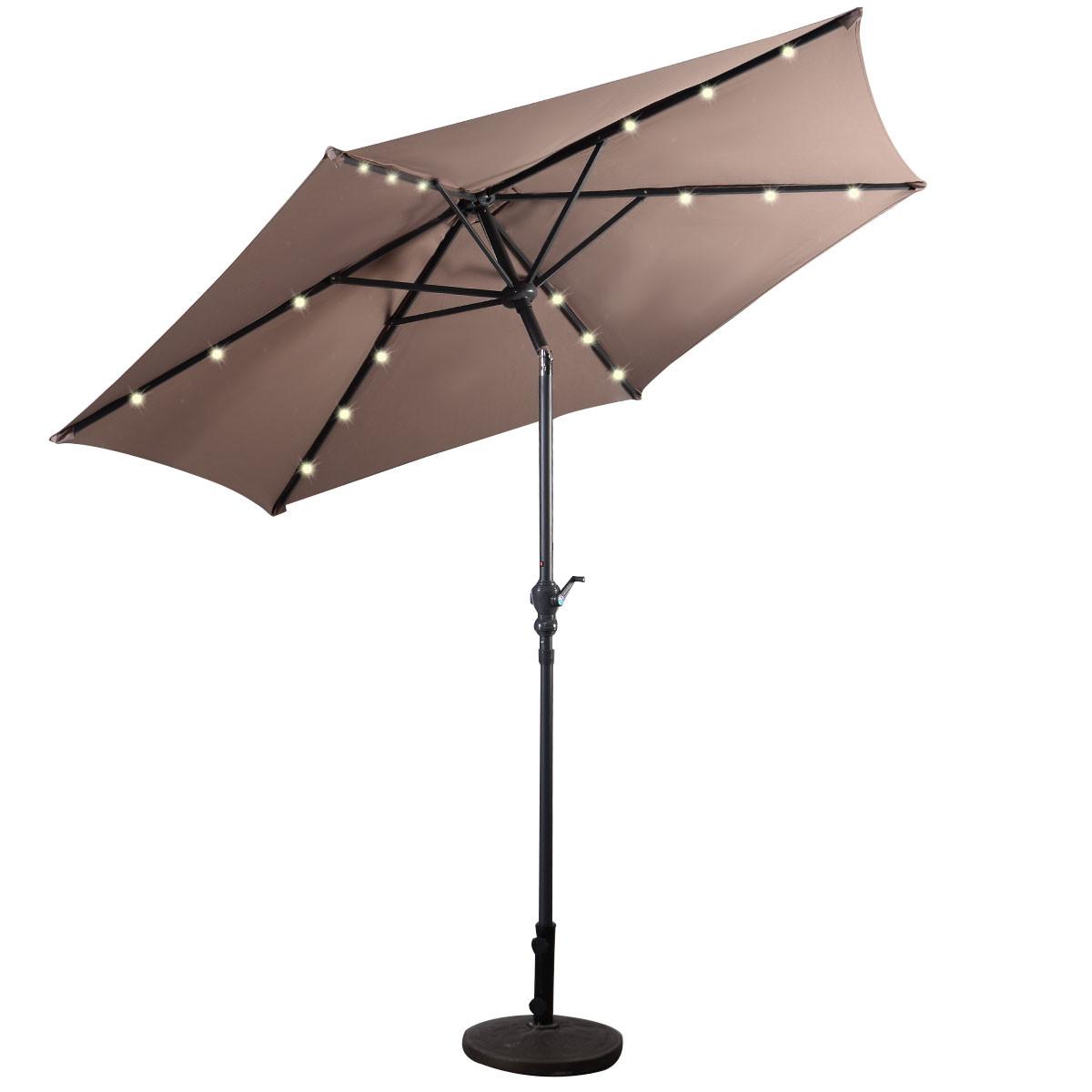 Best ideas about Patio Umbrella Walmart . Save or Pin Trademark Innovations 10 x 6 5 Rectangular Solar Powered Now.