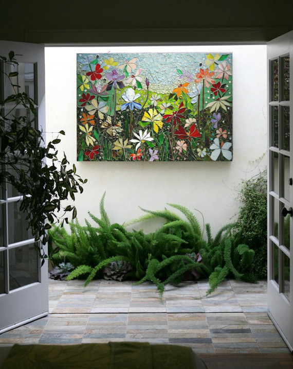 Best ideas about Patio Wall Decor . Save or Pin MOSAIC WALL ART stained glass wall decor floral garden indoor Now.