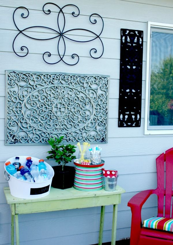 Best ideas about Patio Wall Decor . Save or Pin 1000 ideas about Outdoor Wall Art on Pinterest Now.