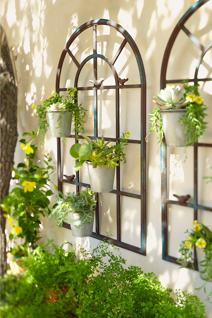 Best ideas about Patio Wall Decor . Save or Pin The shape of these wall planters matches that of the Now.