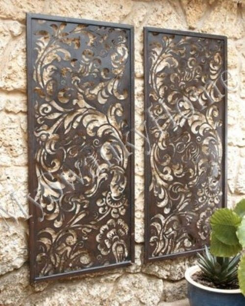 Best ideas about Patio Wall Decor . Save or Pin Luxe Neiman Marcus Laser Cut Floral Outdoor Wall Art PAIR Now.