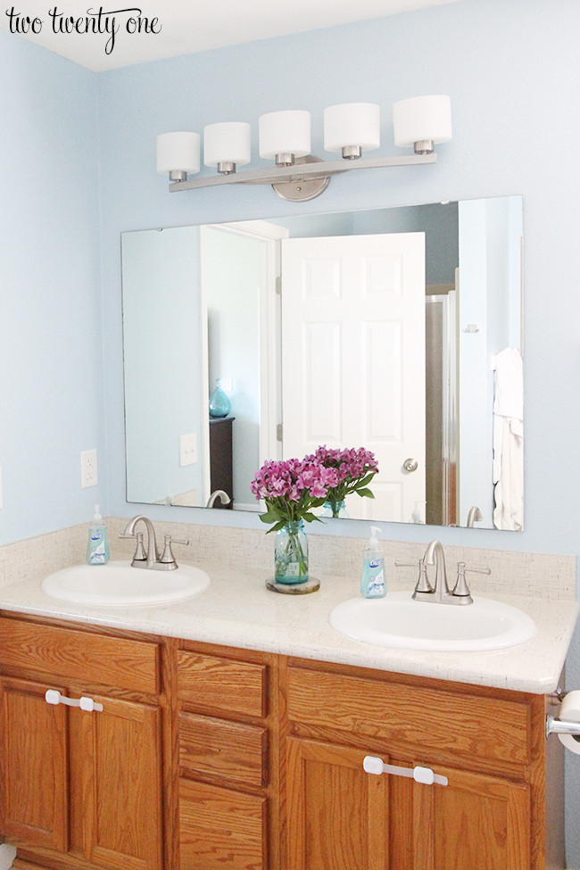 Best ideas about Pictures For Bathroom . Save or Pin New Bathroom Vanity Lights Now.
