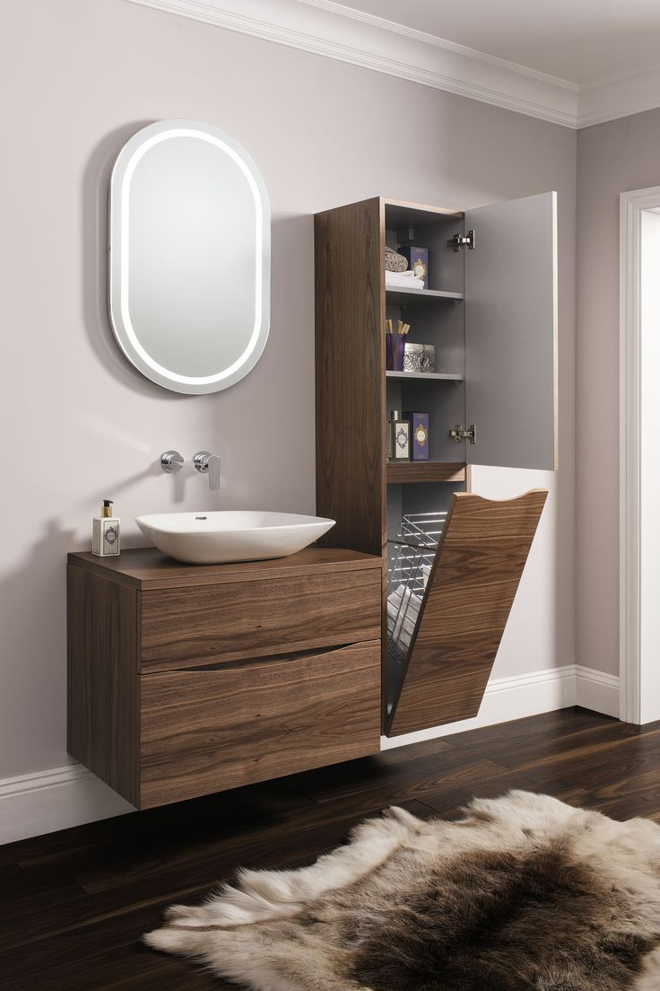 Best ideas about Pictures For Bathroom . Save or Pin Glide II American Walnut Bathroom Furniture Range from Now.
