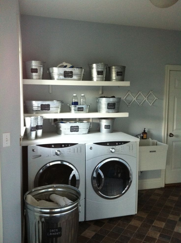 Best ideas about Pinterest Laundry Room . Save or Pin Metal tubs for laundry room organization Now.